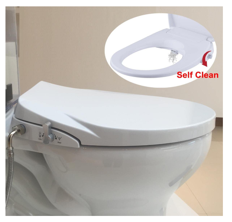 Hibbent Bidet Seat with Separated Self Clean Knob-Dual Nozzles
