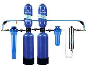 Aquasana Whole House Water Filter System w/ UV Purifier & Salt-Free Descaler - Filters Sediment